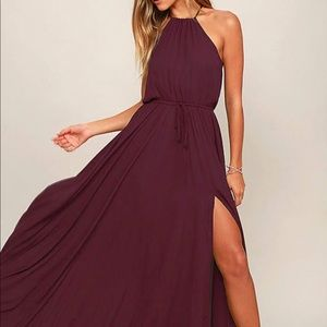Lulus Essence of Style Plum Purple Maxi Dress